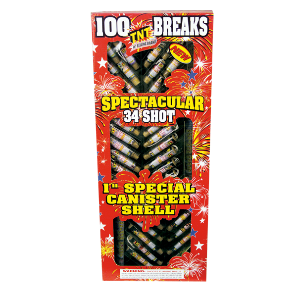 Firework Reloadable 100 Break Canisters