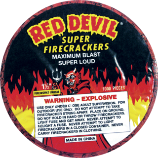 Firework Firecracker Red Devil 1000 Strip
