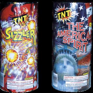 Firework Fountain American Spirit Plus Sizzler