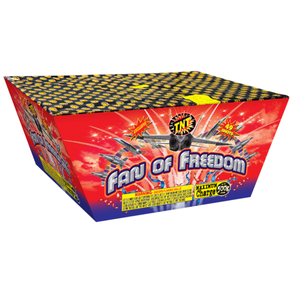 500 Gram Firework Aerial Finale Fan Of Freedom